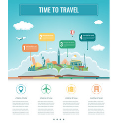 Travel infographic infographics for business web vector