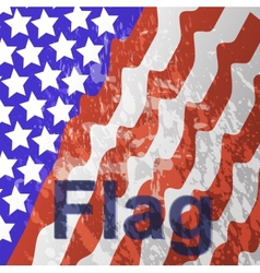 - USA flag in white background vector image