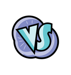 vs letters logo in cartoon style vector image