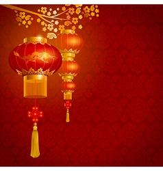 China lanterns vector image vector image