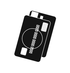 Credit card icon simple style vector image vector image
