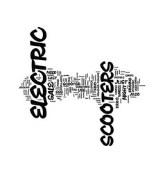 electric scooter for sale text background word vector image vector image