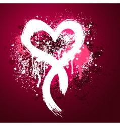 grunge heart design vector image vector image