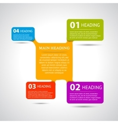 Infographic design options 1 2 3 4 vector