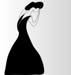 lady crying vector image