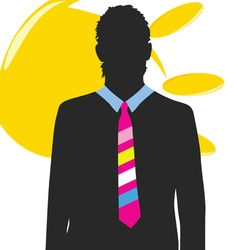 man with sun vector image vector image