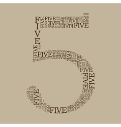 number five created from text vector image vector image