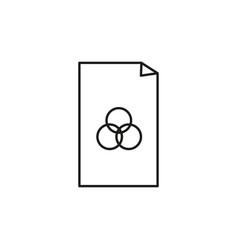 rgb color file icon vector image vector image