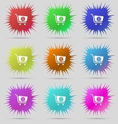 shopping cart icon sign A set of nine original vector image