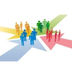 Social network connect vector