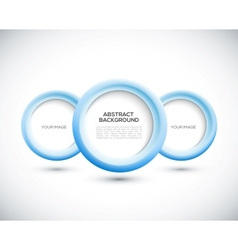Abstract 3D blue circles background vector image