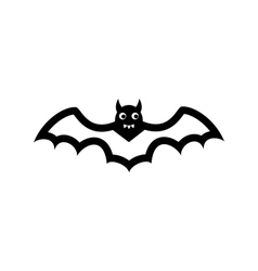 Bat icon isolated on white background vector image
