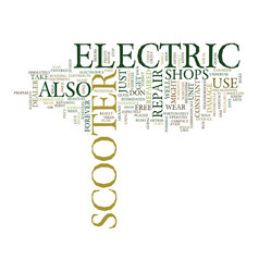 electric scooter repair text background word vector image vector image