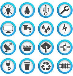 Utilities icons set vector image