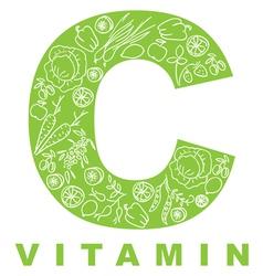 vitamin c vector image vector image