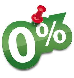 Zero percent sticker vector image