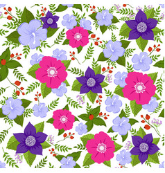 abstract flower seamless background summer vector image vector image