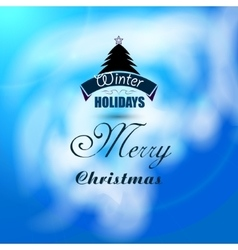 Christmas beautiful background with xmas tree vector image