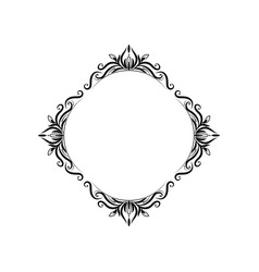 classic black vintage round frame vector image vector image