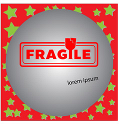 fragile clean stamp isolated vector image vector image