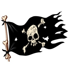 Pirate flag vector image