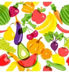 Seamless background vegetarian products vector image vector image