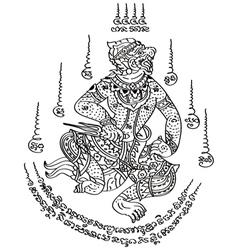 Tattoo thai style 2 vector