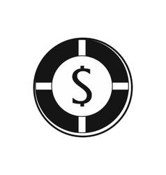 Casino chip icon simple style vector image vector image