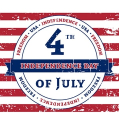 Independens day flag grunge vector image vector image