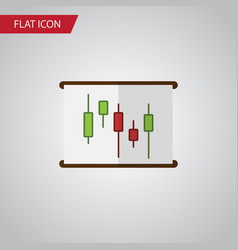 isolated chart flat icon diagram element vector image