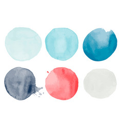 Set of watercolor shapes vector