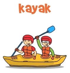 Transport of kayak flat vector image