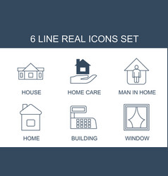 6 real icons vector