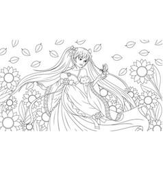 a beautiful fantasy girl vector image