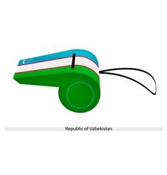 A Whistle of The Republic of Uzbekistan vector image
