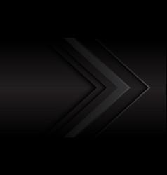 Abstract dark grey metallic arrow direction vector