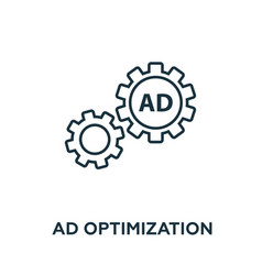 ad optimization icon symbol creative sign from vector image