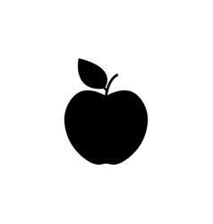 apple icon black on white vector image