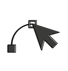 arrow cursor designing icon image vector image
