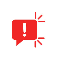 Attention sign icon in flat style warning banner vector