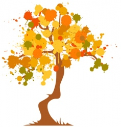 Autumn abstract tree vector