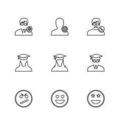 Avtar user profile avatar emoji emoticon vector
