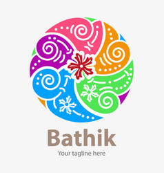 Bathik symbol vector