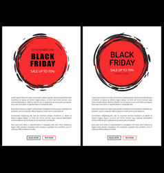black friday price tag templates big november sale vector image