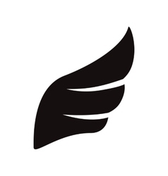 Black wing icon simple style vector image