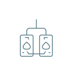boiler room linear icon concept boiler room line vector image