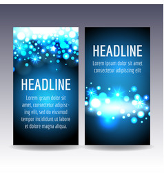 bokeh blue lights flyer templates vector image