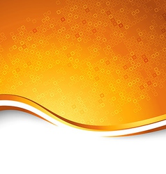 Bright orange swoosh wave particle background vector