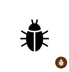 Bug black silhouette icon Insect simple symbol vector