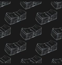 Bundle money seamless pattern vector